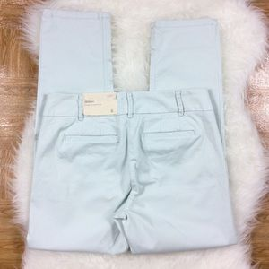 LOFT Pants - LOFT Marisa Skinny Blue Green Chino Pants 6 A